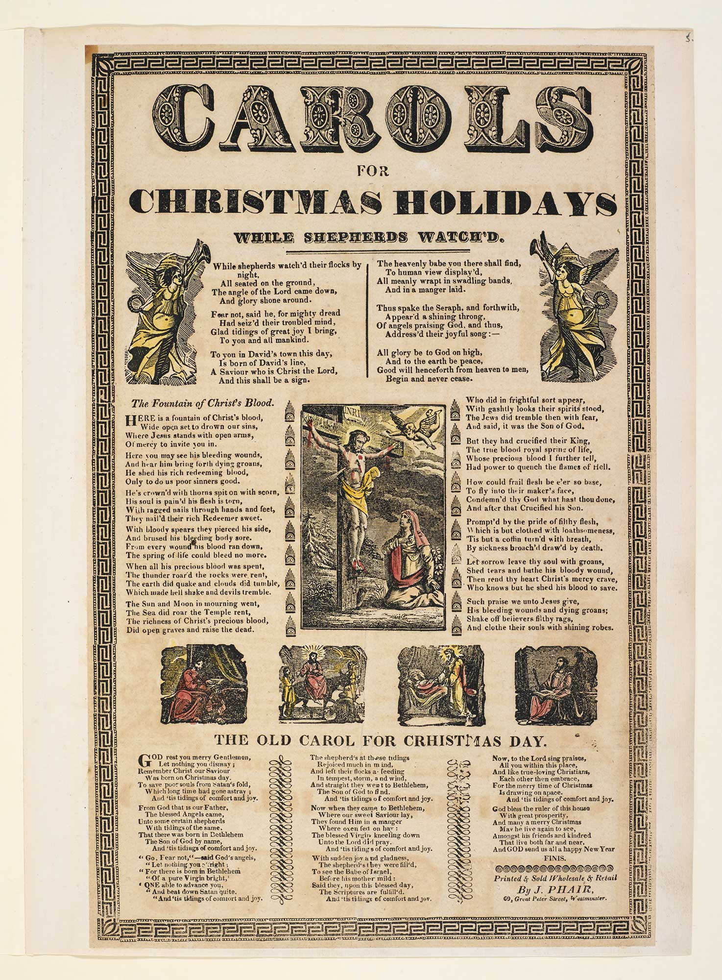 Broadside: Carols for Christmas Holidays