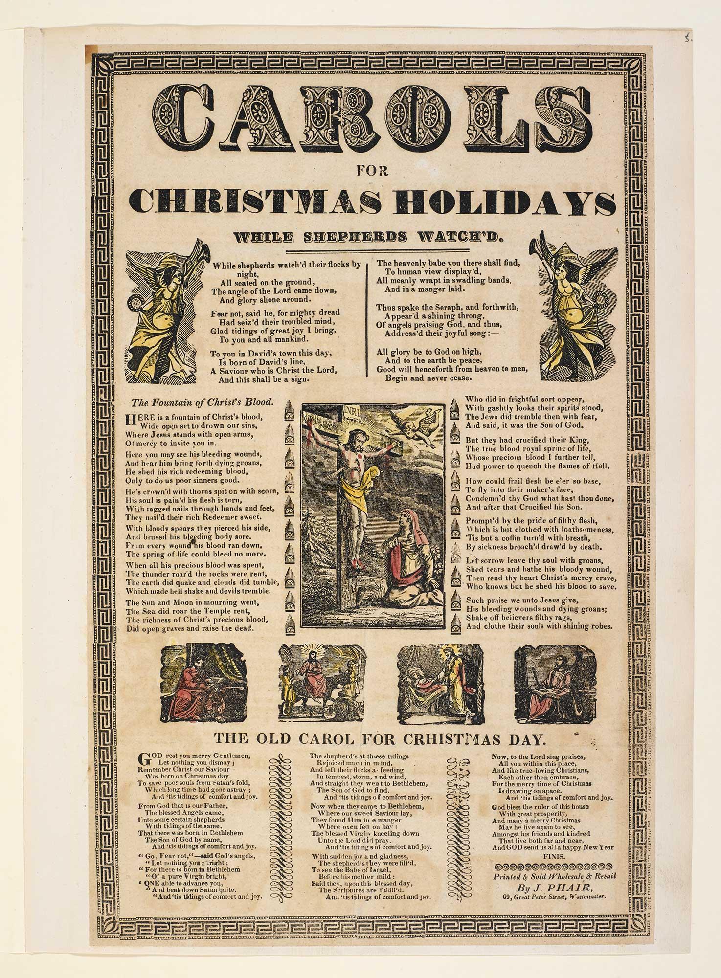 Broadside: Carols for Christmas Holidays
