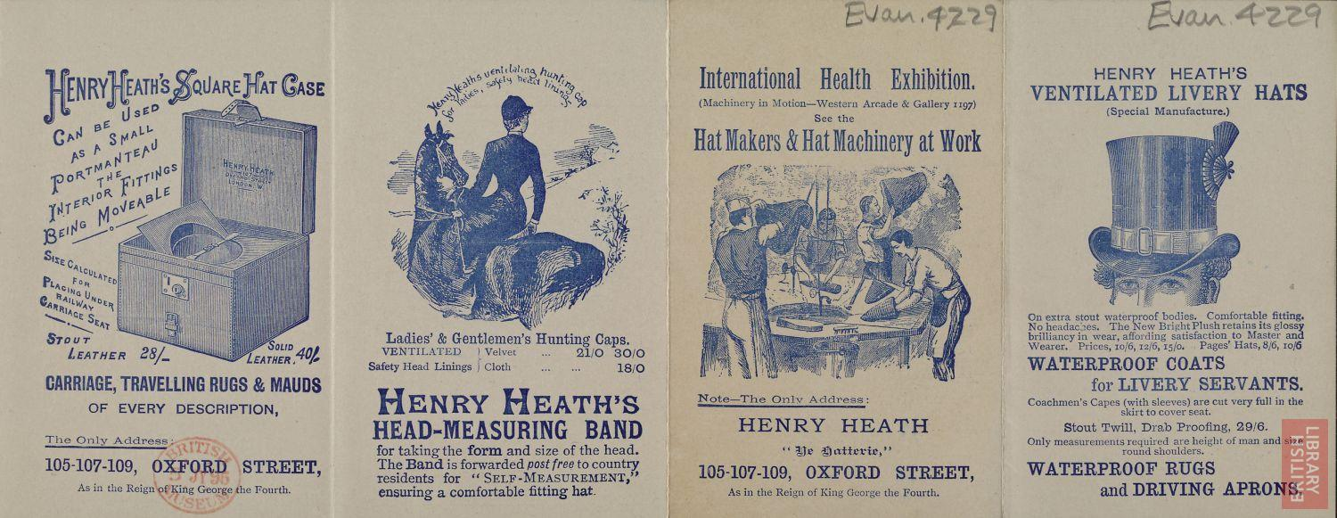 Advertisement for Henry Heath's Ladies' Hats