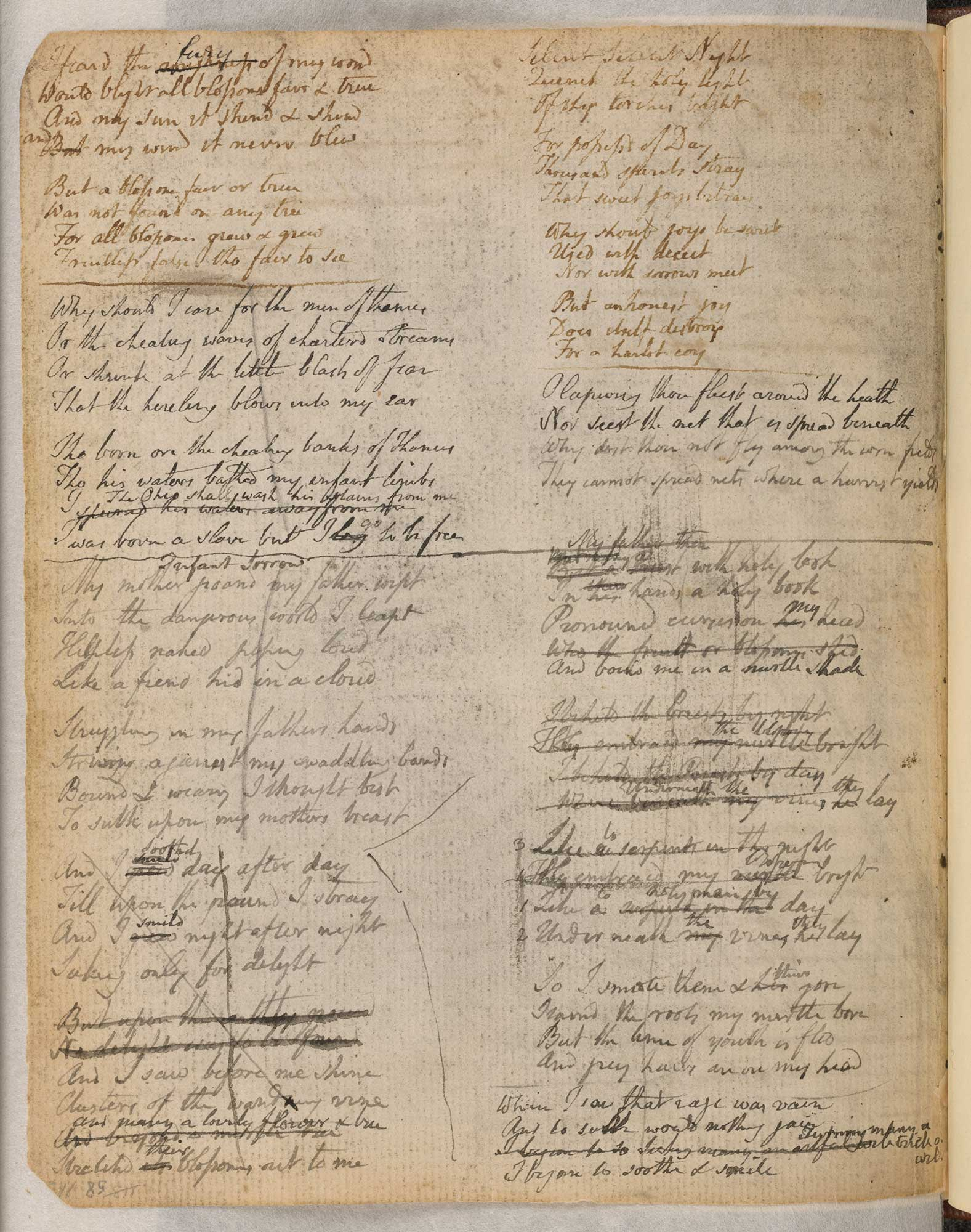 The Notebook of William Blake [folio: 58r]