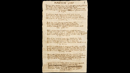 Brontë juvenilia: 'Vesper' and 'Matin', two poems [folio: 1r]