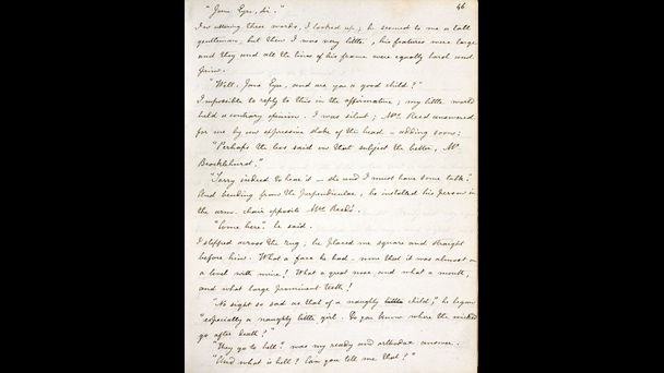 Fair copy manuscript of Charlotte Brontë's Jane Eyre [folio: 46r]