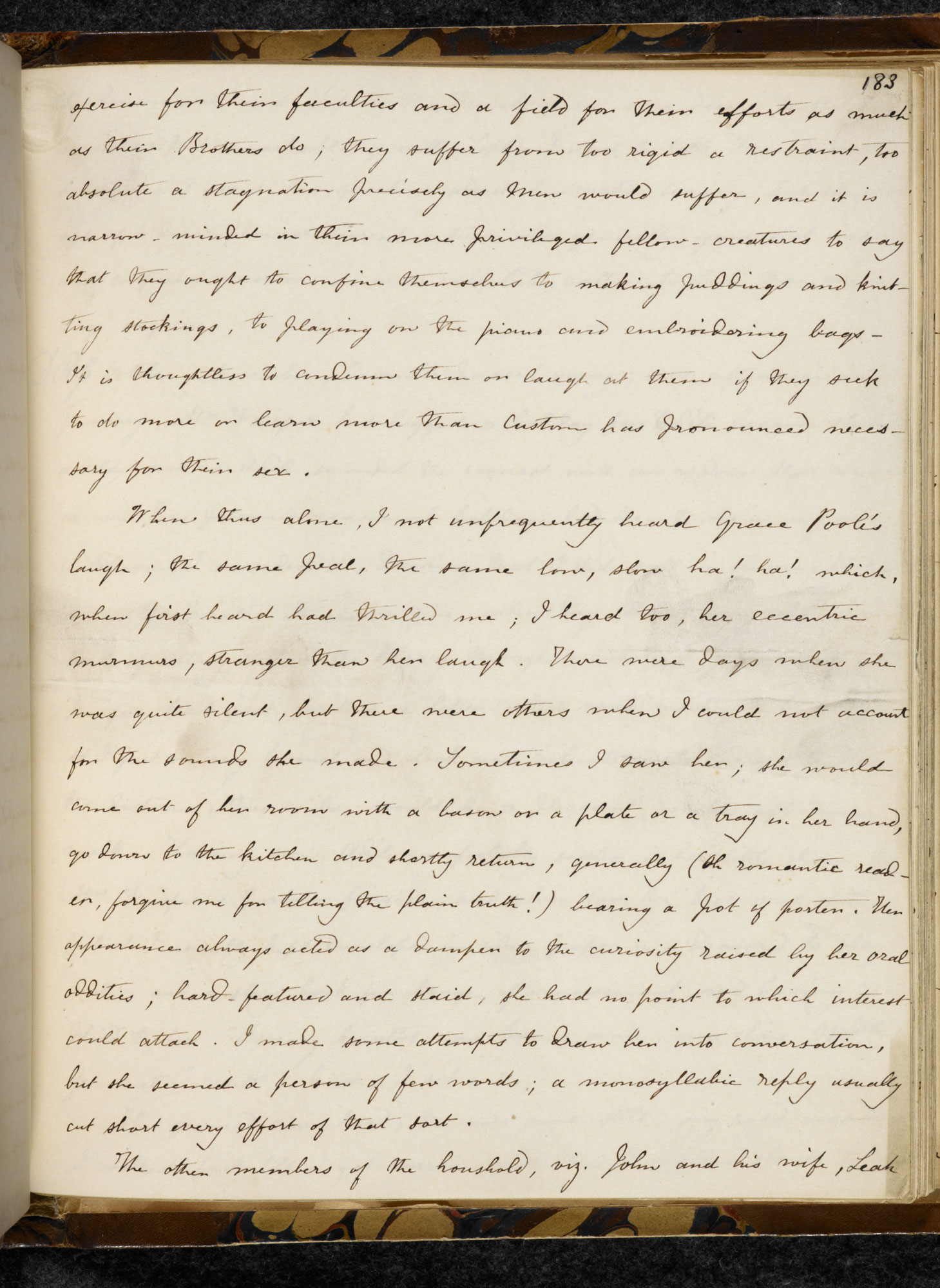 Fair copy manuscript of Charlotte Brontë's Jane Eyre [folio: 183r]