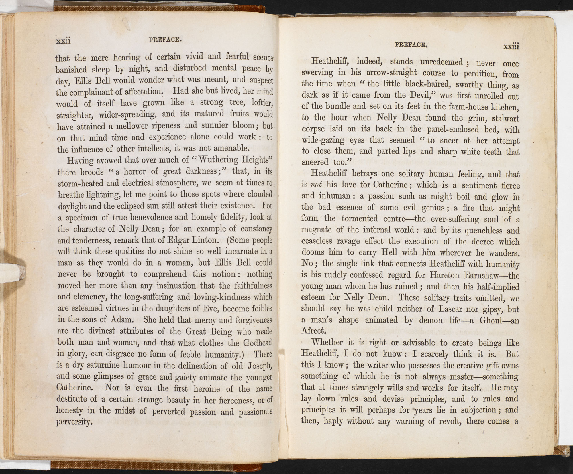 Charlotte Brontë's 1850 Preface to Wuthering Heights [page: xxii-xxiii]