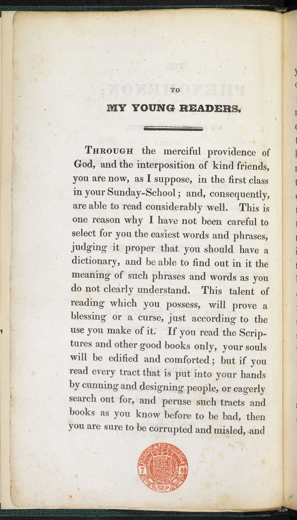 An address to children by Patrick Brontë, father of the Brontës [page: [2]]