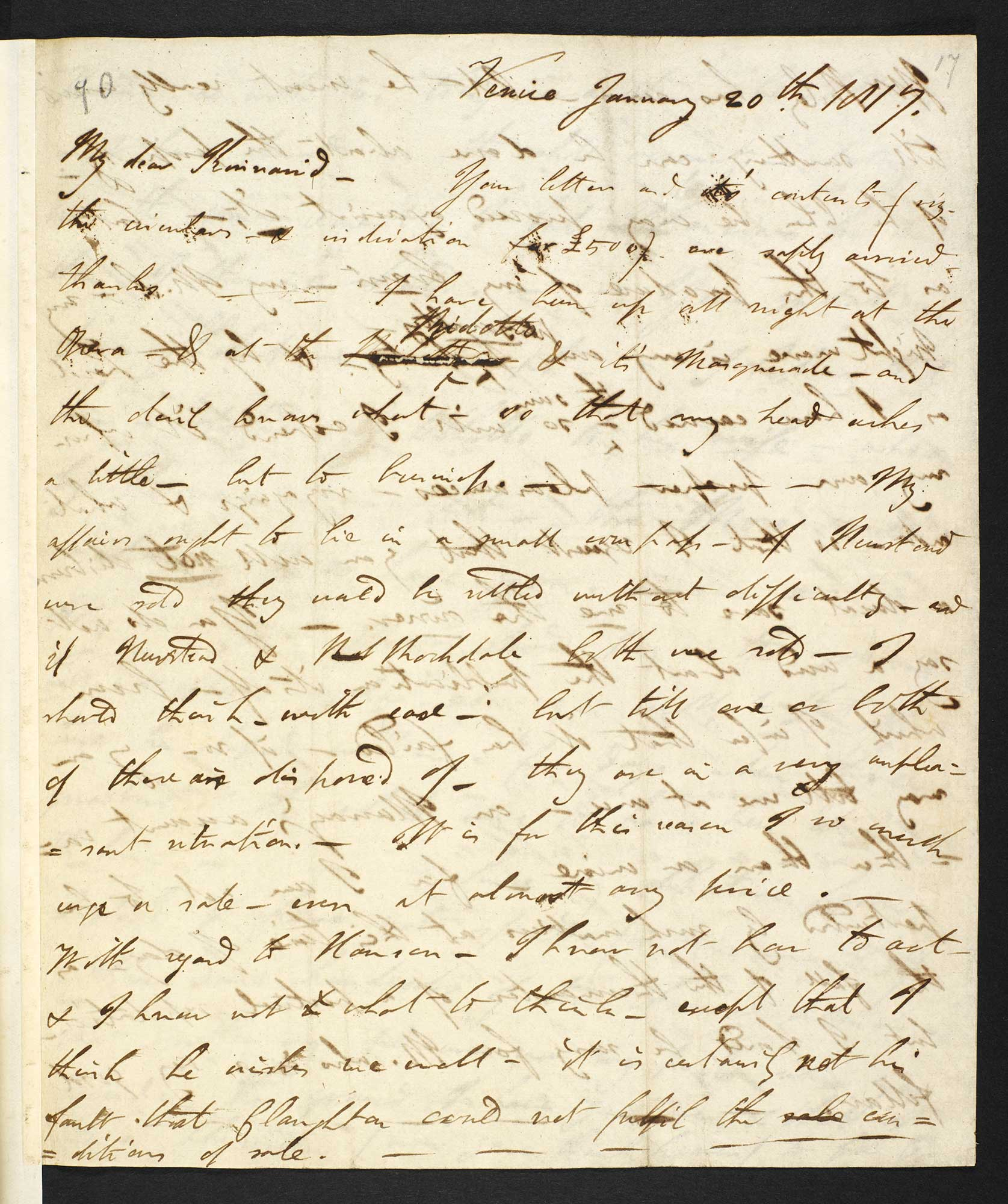Letter from Lord Byron to Douglas Kinnaird about other poets