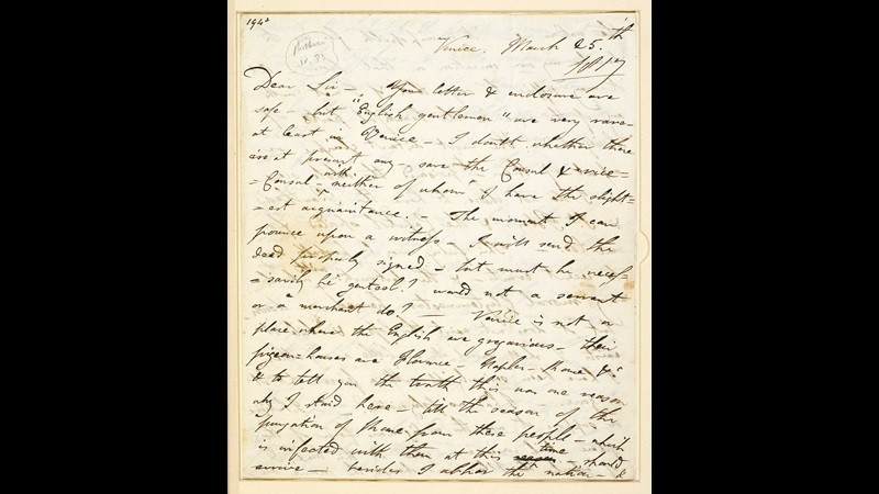 Letter from Lord Byron to John Murray about other poets