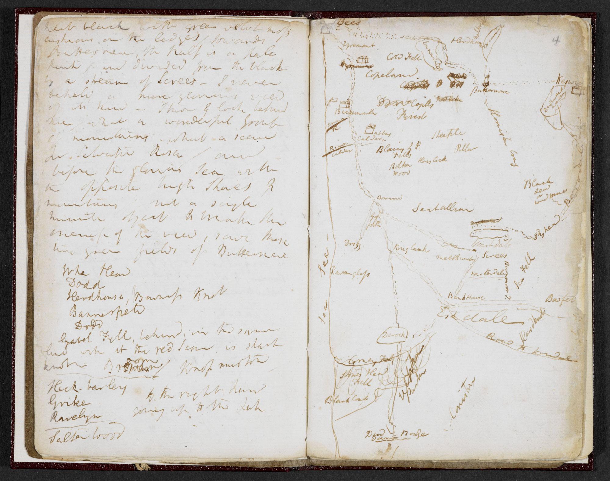 Samuel Taylor Coleridge, A Walking Tour of Cumbria [folio: 3v-4r]