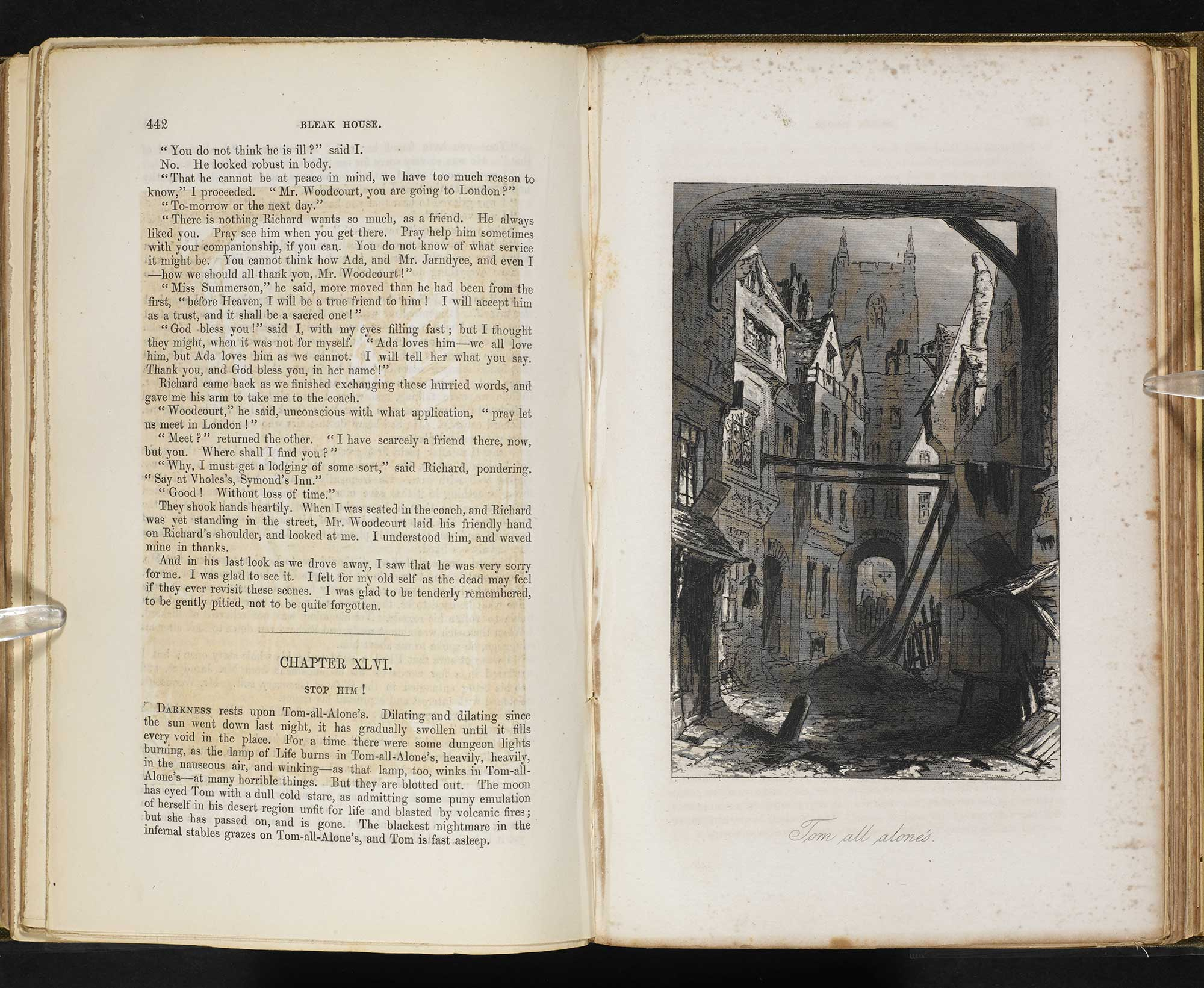 Bleak House first edition with illustrations [page: 442 and facing]