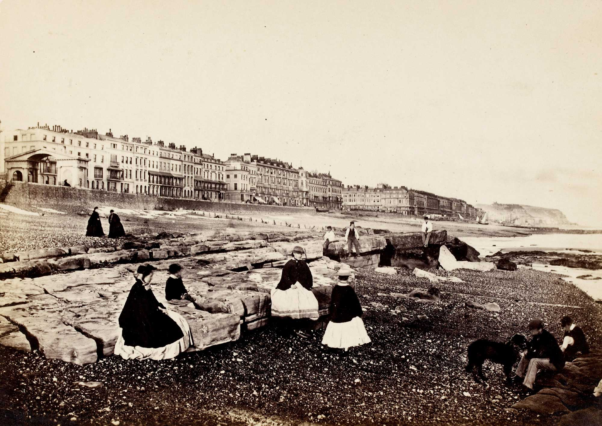 Photograph of the beach at Hastings, Sussex