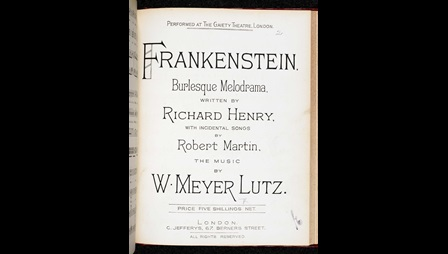 Frankenstein adapted as a musical melodrama [page: title page]