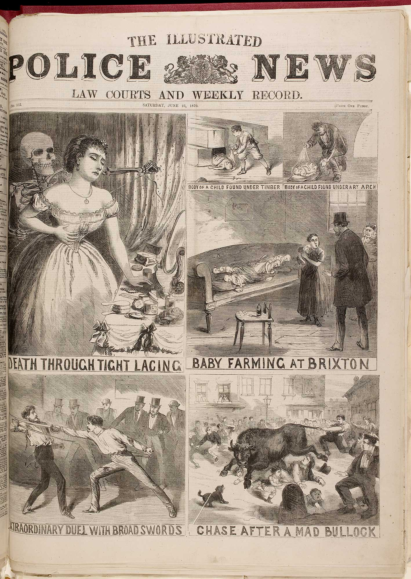 Front page of the Illustrated Police News, 25 June 1870 [page: 1]