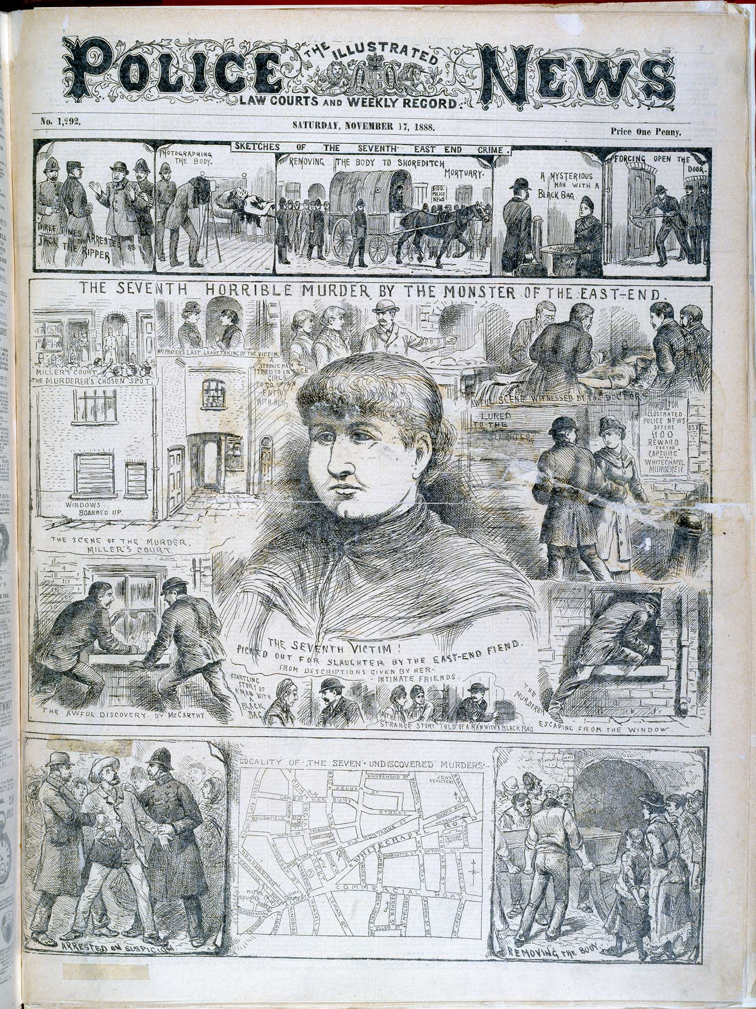 Seventh Ripper murder' from the Illustrated Police News [page: [1]]