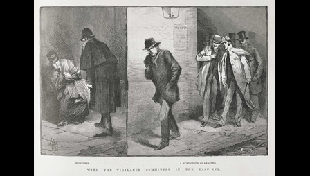 Suspicious characters' from the Illustrated London News [page: vol. 93 p. 421]