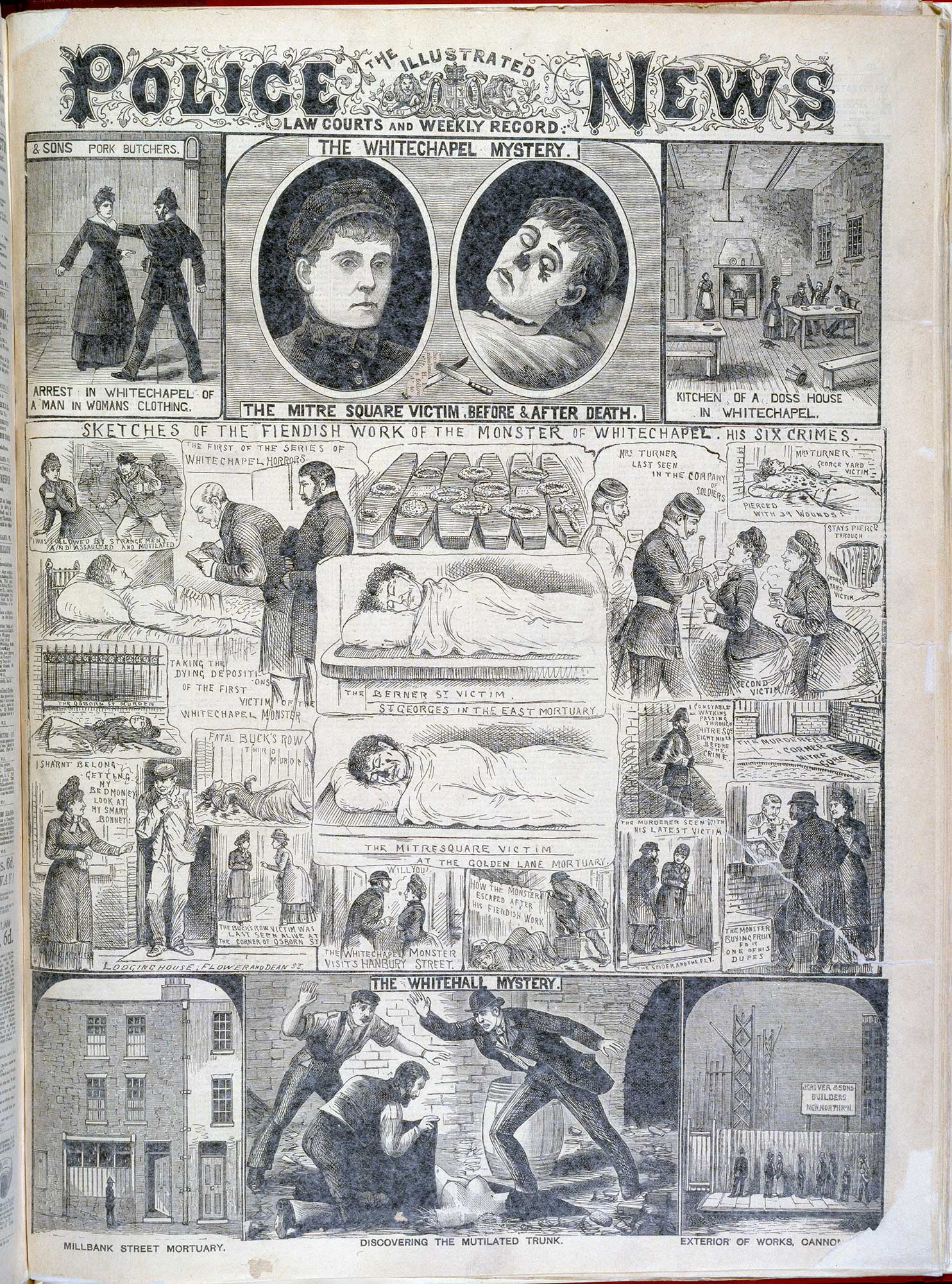 The Whitechapel mystery' from the Illustrated Police News [page: [1]]