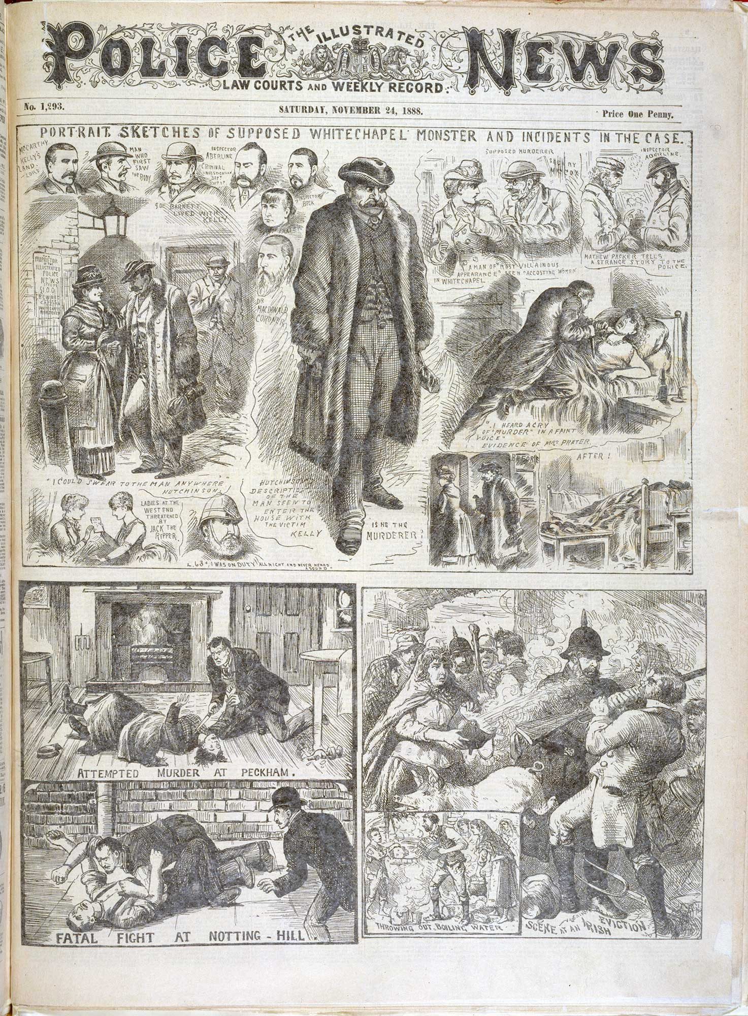 The Whitechapel monster' from the Illustrated Police News [page: [1]]