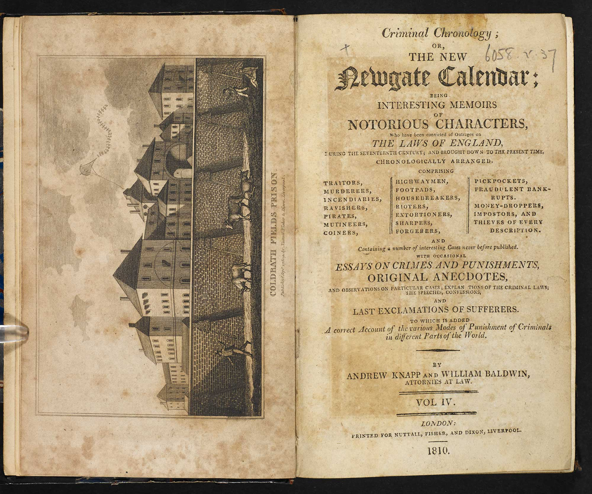 Criminal Chronology [page: vol. 4 frontispiece and title page]