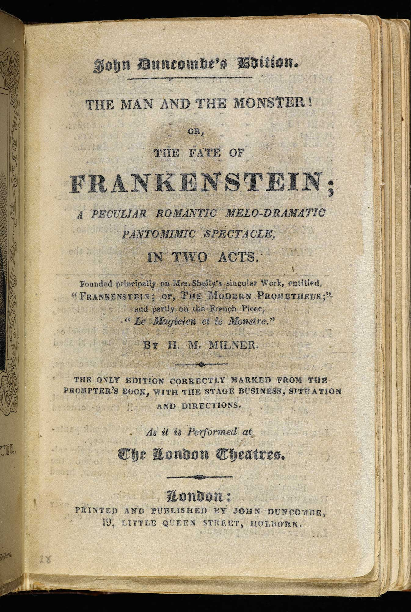 The Man and the Monster! Or, the Fate of Frankenstein [page: title page]