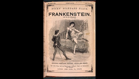 Frankenstein playscript [page: front cover]
