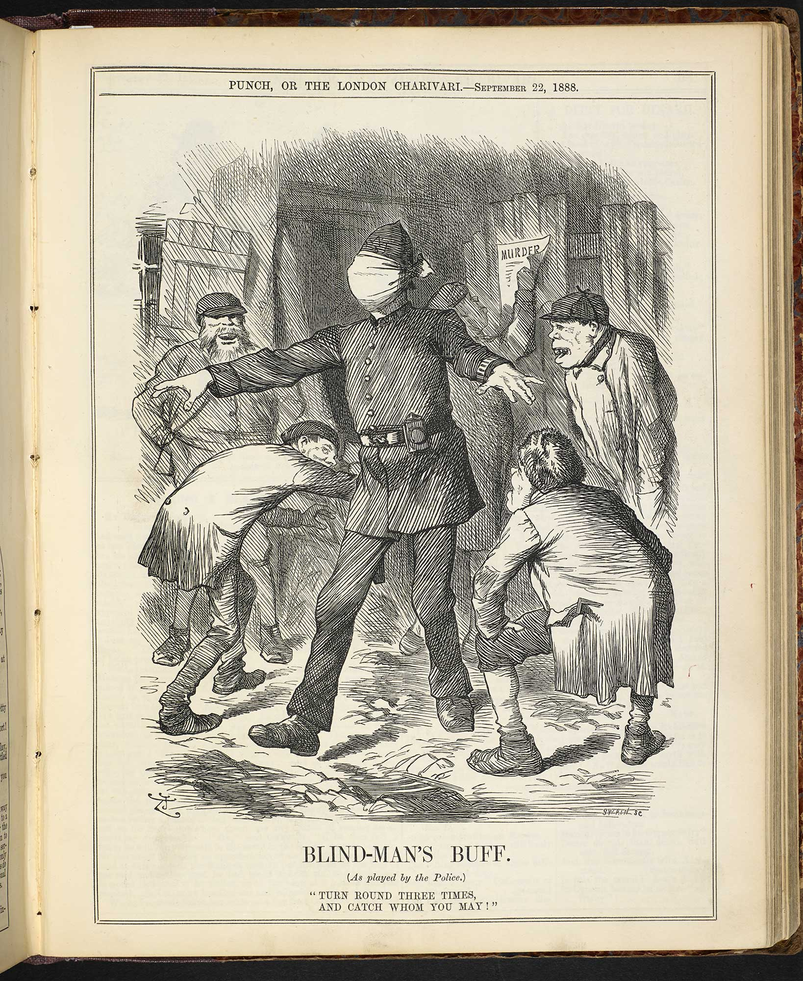 Blind-man's buff' from Punch [page: 139]