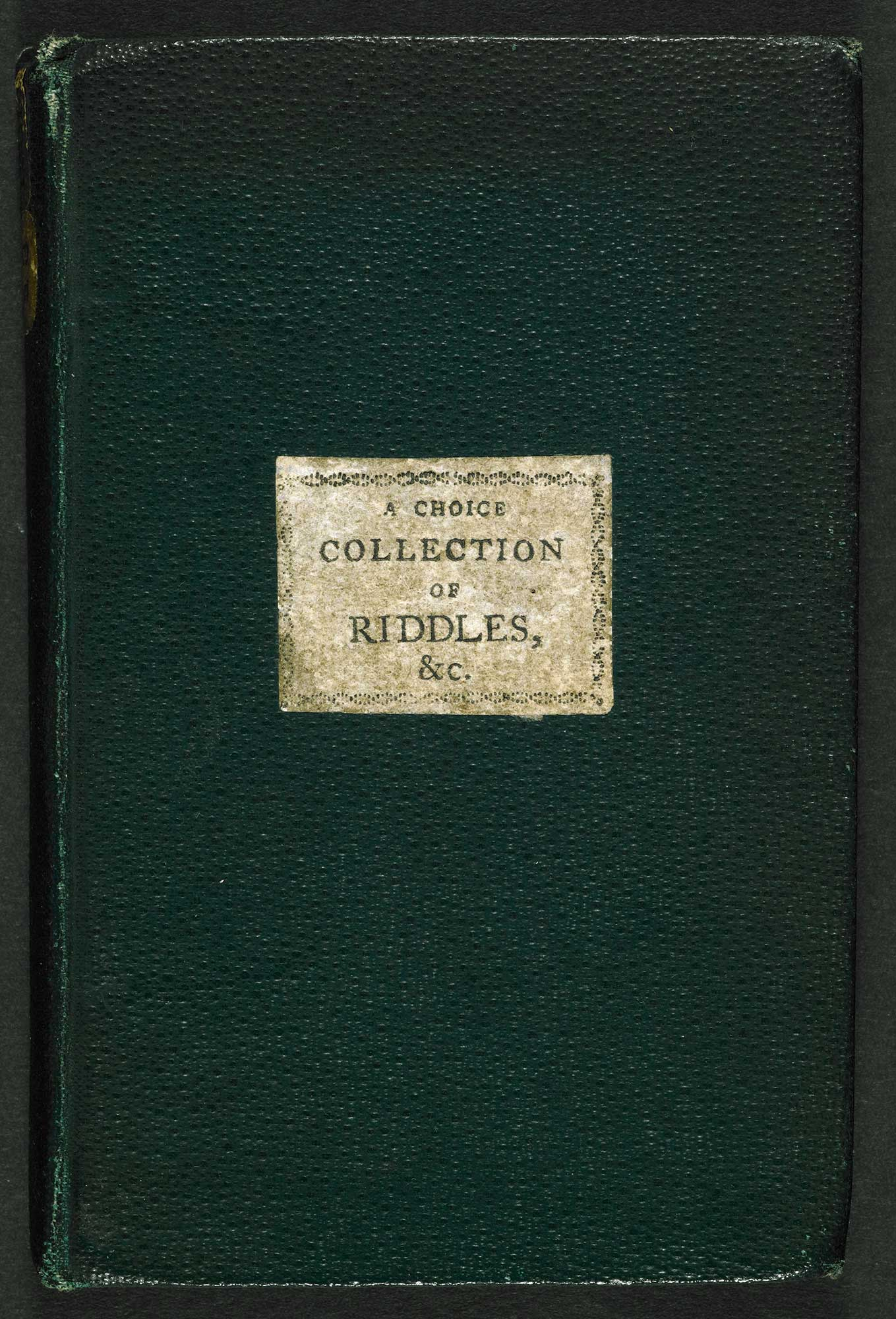 Riddles, Charades, Rebusses [page: front cover]
