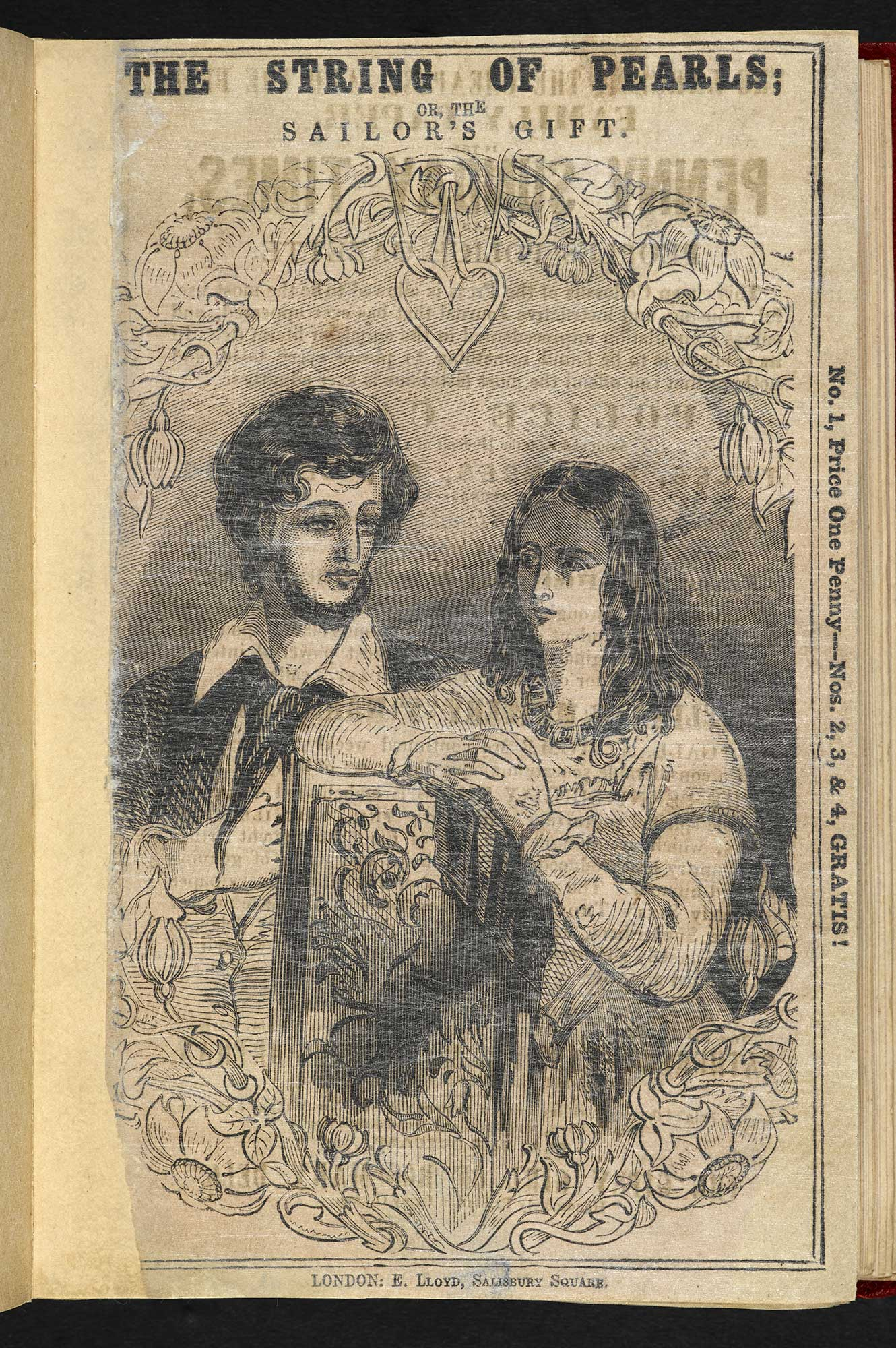 The String of Pearls; or, the Barber of Fleet Street [page: Frontispiece recto]
