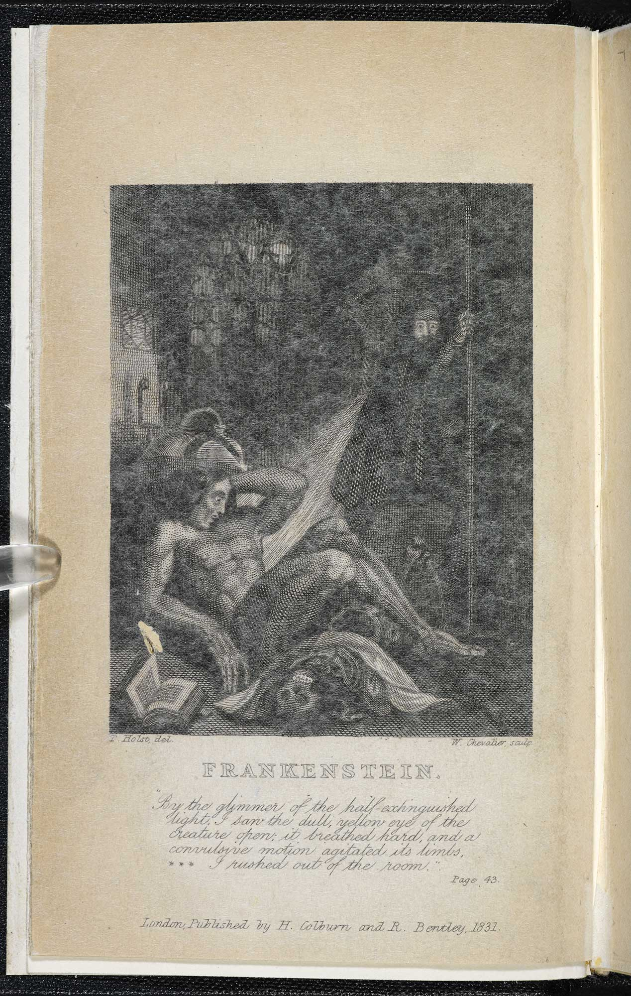 1831 edition of Frankenstein or the Modern Prometheus [page: frontispiece]