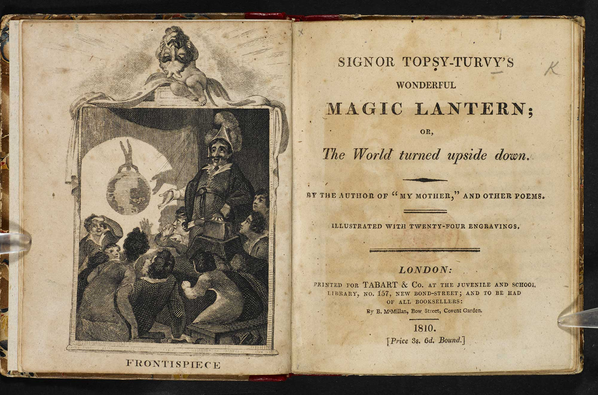 Signor Topsy-Turvy's Wonderful Magic Lantern; or, the World turned upside down [page: frontispiece and title page]