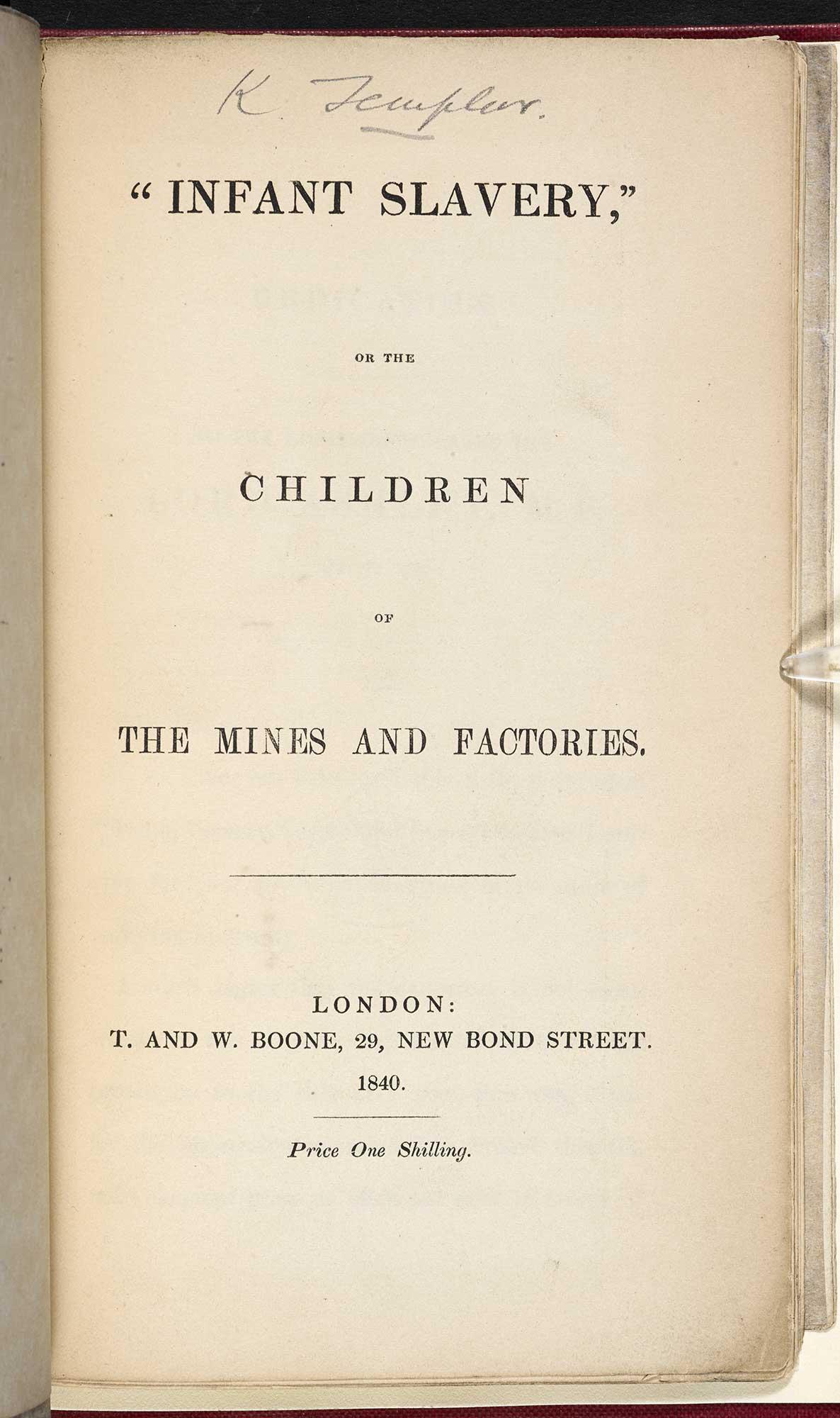 Infant Slavery, a poem