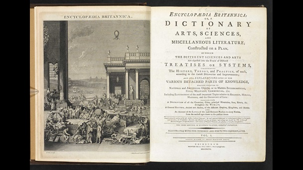 Encyclopaedia Britannica [page: vol. I frontispiece and title page]
