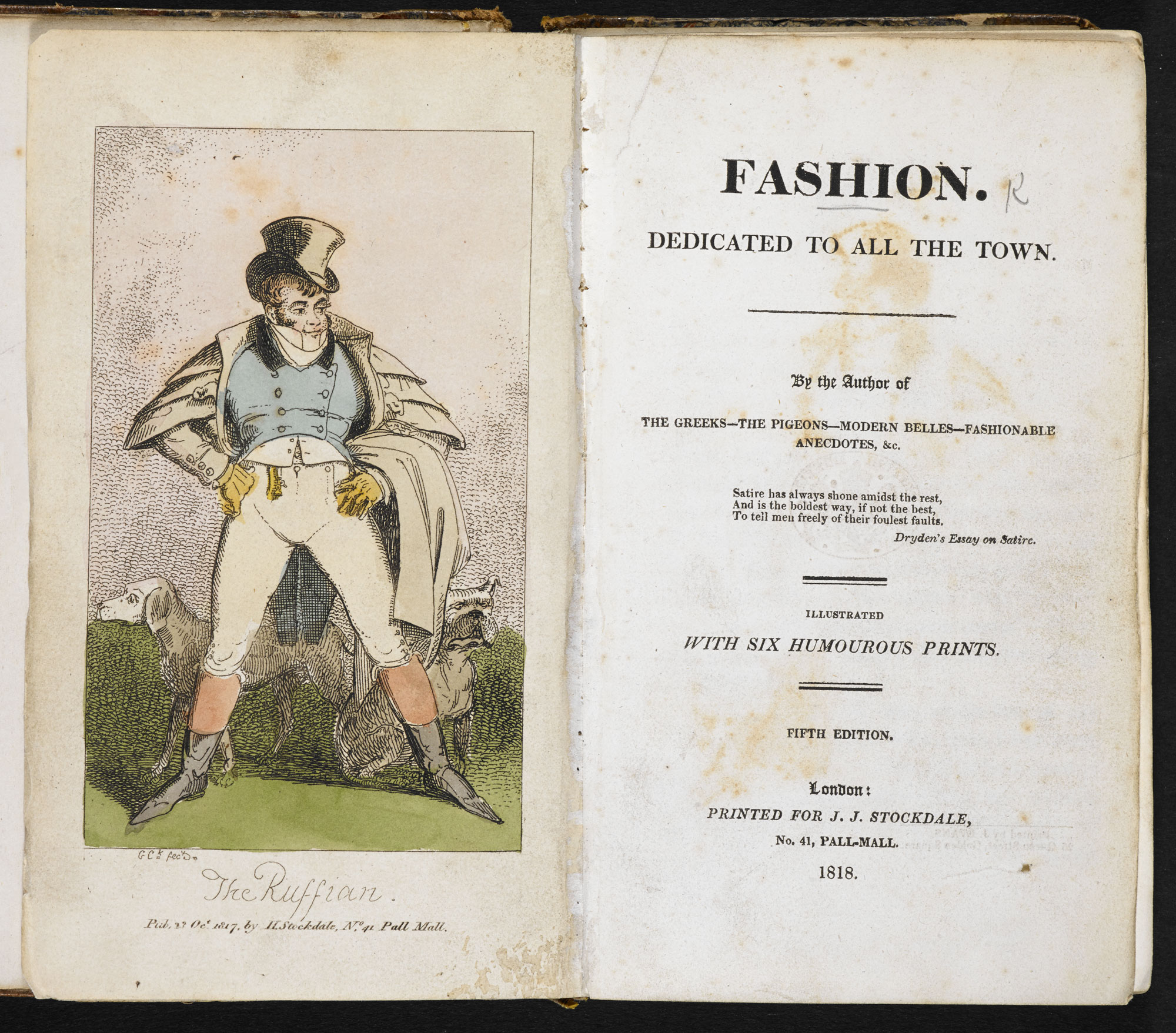 Fashion. Dedicated to All the Town [page: frontispiece and title page]