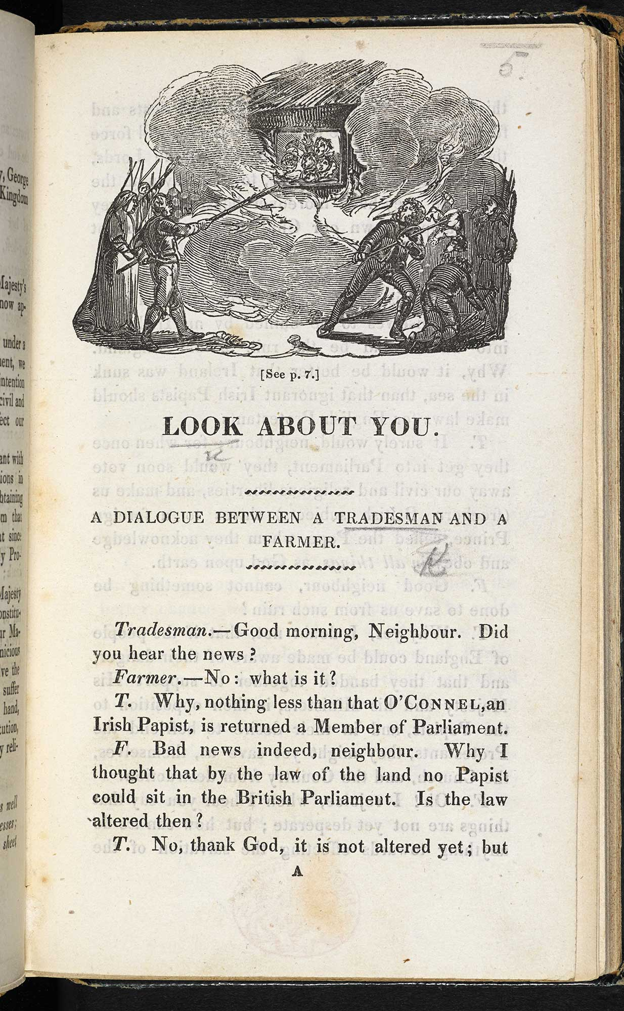 Look About You: Dialogue against Catholic emancipation