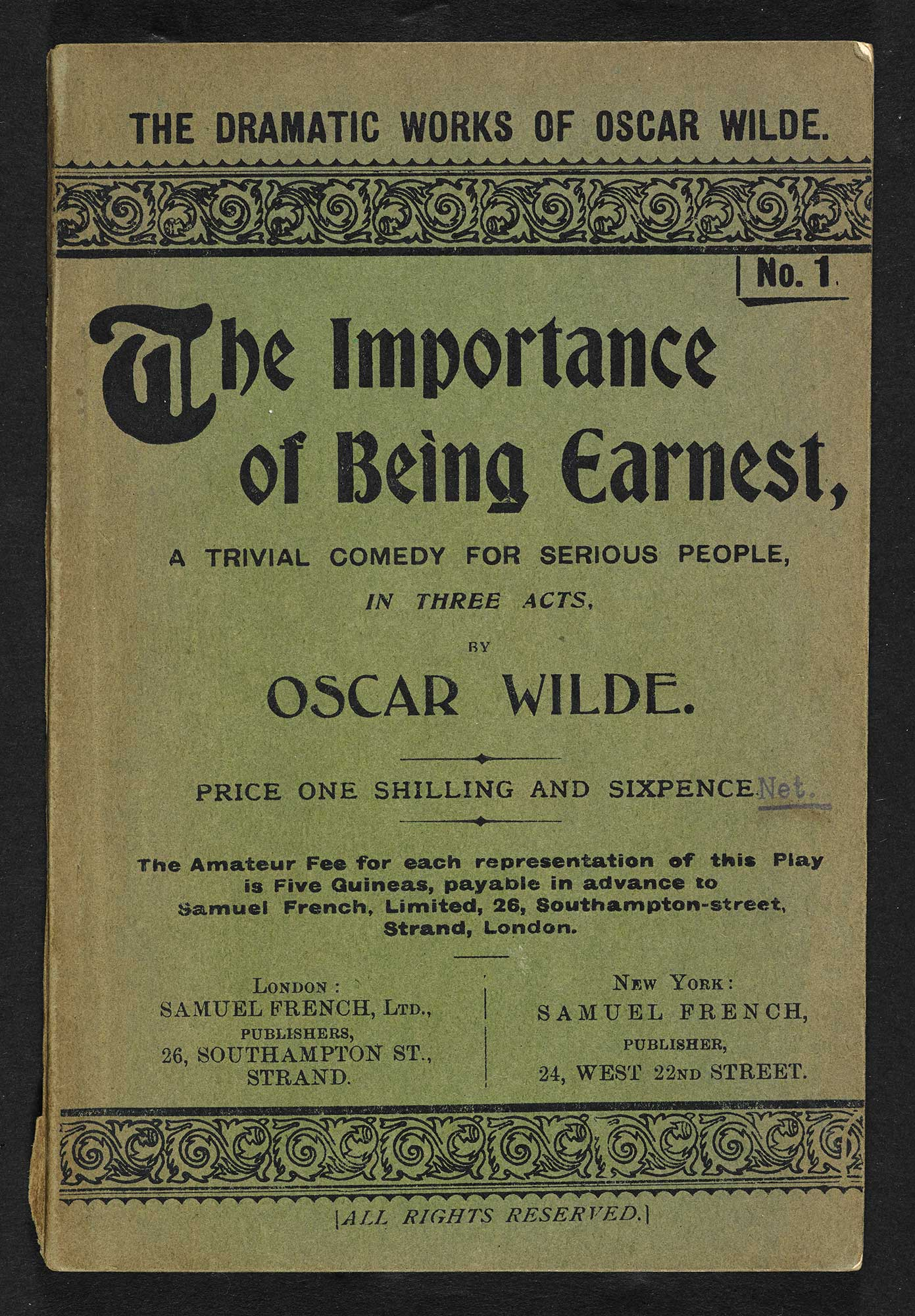 Acting edition of The Importance of Being Earnest