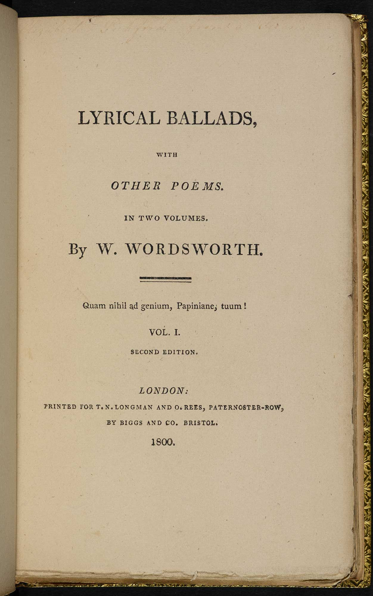 Lyrical Ballads: 1800 edition - The British Library