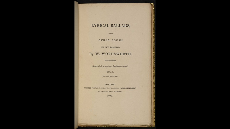 Lyrical Ballads: 1800 edition