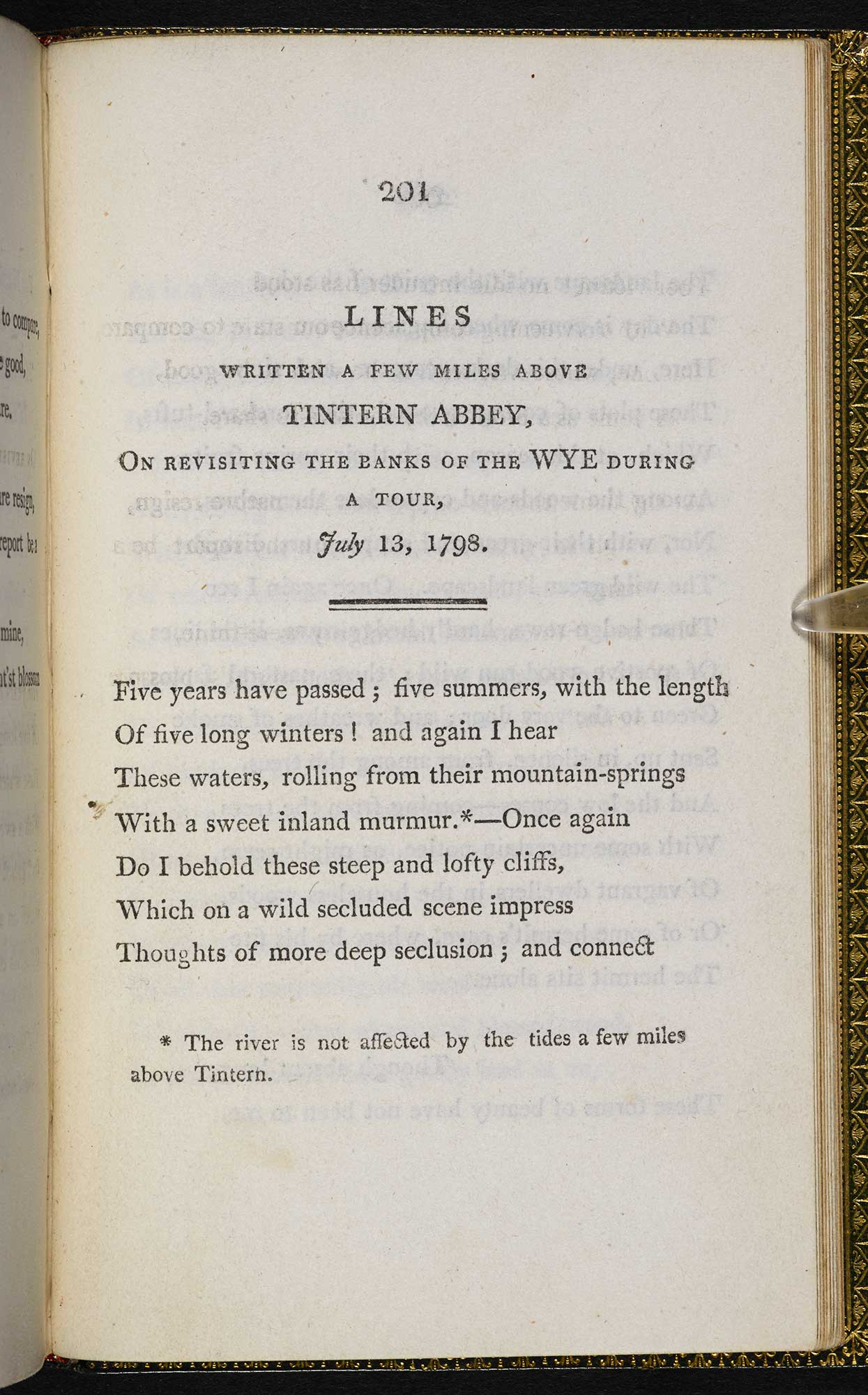 wordsworths tintern abbey as a thesis poem