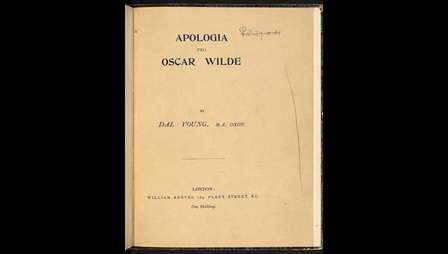 A defence of Oscar Wilde by Dalhousie Young