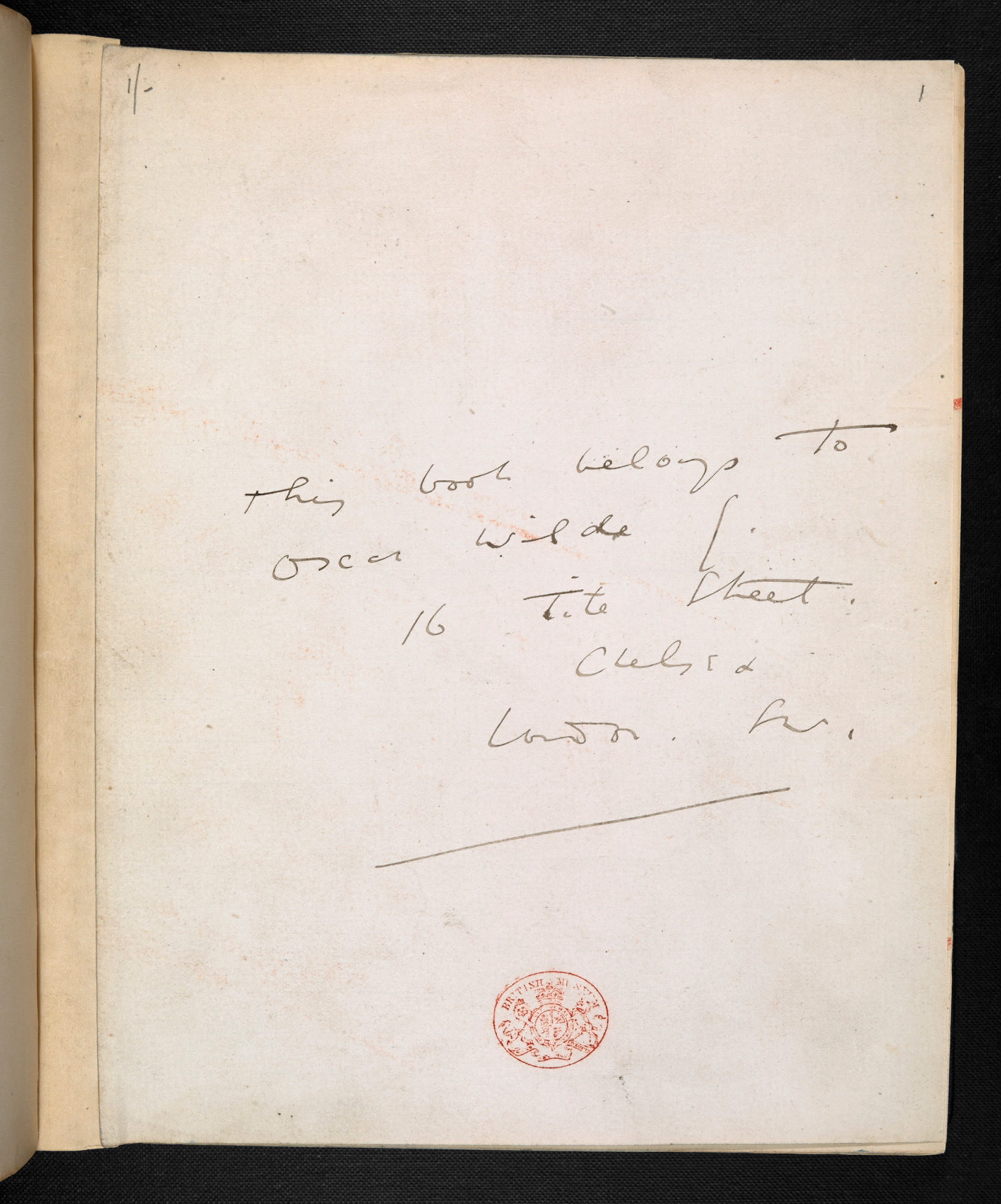 Manuscript draft of A Woman of No Importance by Oscar Wilde