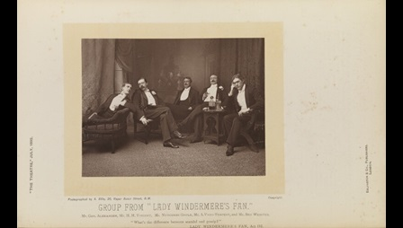 A group shot from the first production of Lady Windermere's fan© National Portrait Gallery, London