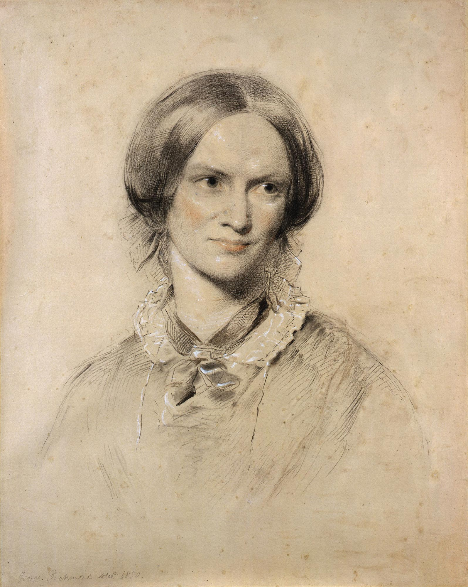 Charlotte Brontë, author of Jane Eyre. Painting by George Richmond © National Portrait Gallery, London.