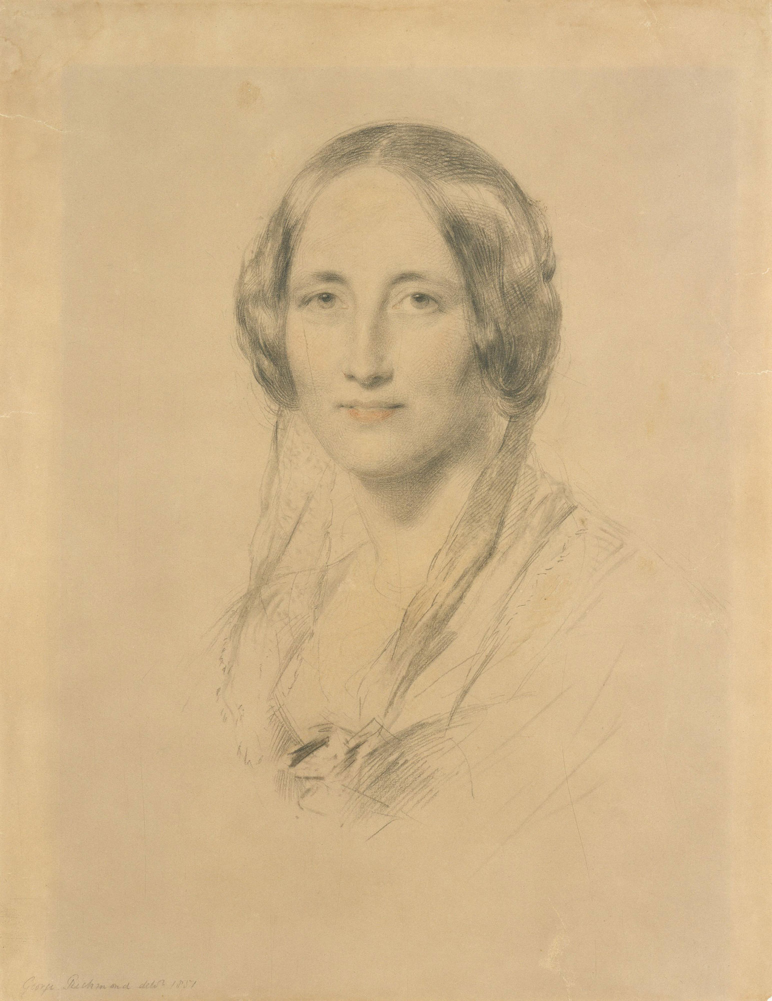 Elizabeth Cleghorn Gaskell, author of Cranford and North and South. Portrait by George Richmond © National Portrait Gallery, London.