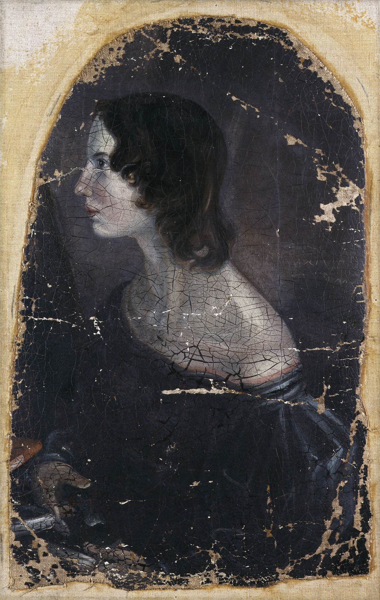 Emily Brontë, author of Wuthering Heights. Portrait by Patrick Branwell Brontë © National Portrait Gallery, London.
