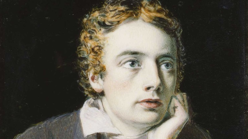 John Keats, author of 'Hyperion' and 'To Autumn'. Portrait by Joseph Severn © National Portrait Gallery, London.