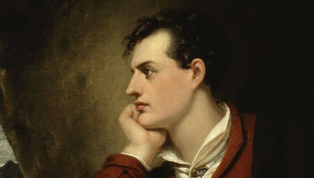 Lord George Gordon Byron, 6th Baron Byron, author of Don Juan and Childe Harold's Pilgrimage. Portrait by Richard Westall © National Portrait Gallery, London.
