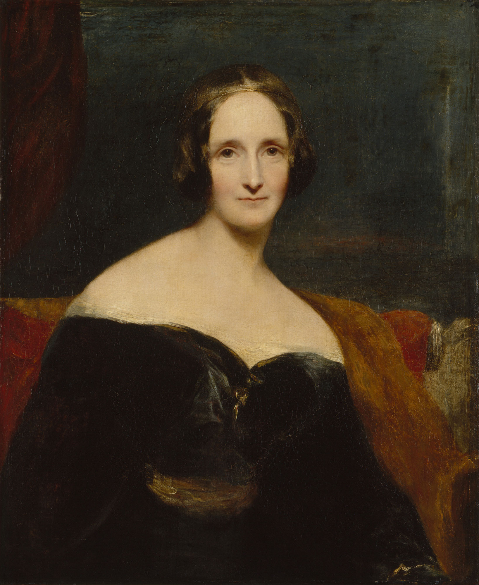 Mary Shelley, author of Frankenstein. Portrait by Richard Rothwell © National Portrait Gallery, London.