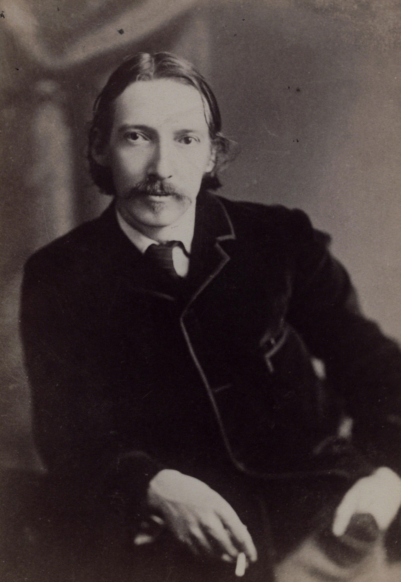 Robert Louis Stevenson, author of Treasure Island and Strange Case of Dr Jekyll and Mr Hyde. Portrait photograph by William Notman © National Portrait Gallery, London.
