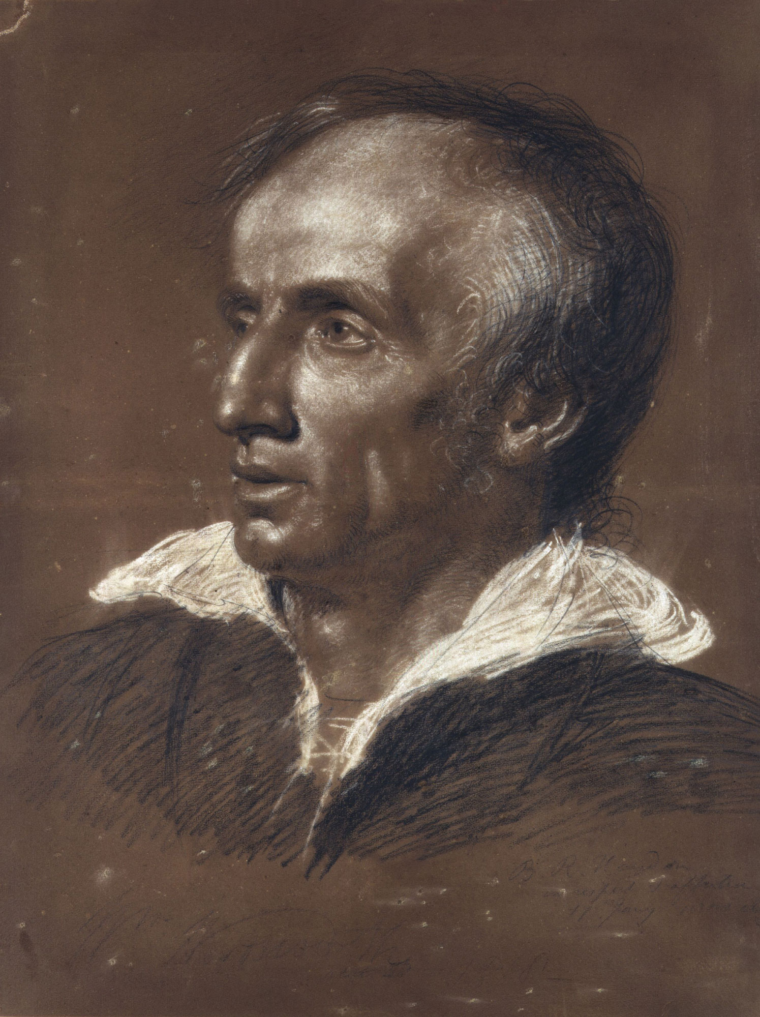 William Wordsworth, author of 'I wandered Lonely as a Cloud'. Portrait by Benjamin Robert Haydon © National Portrait Gallery, London.