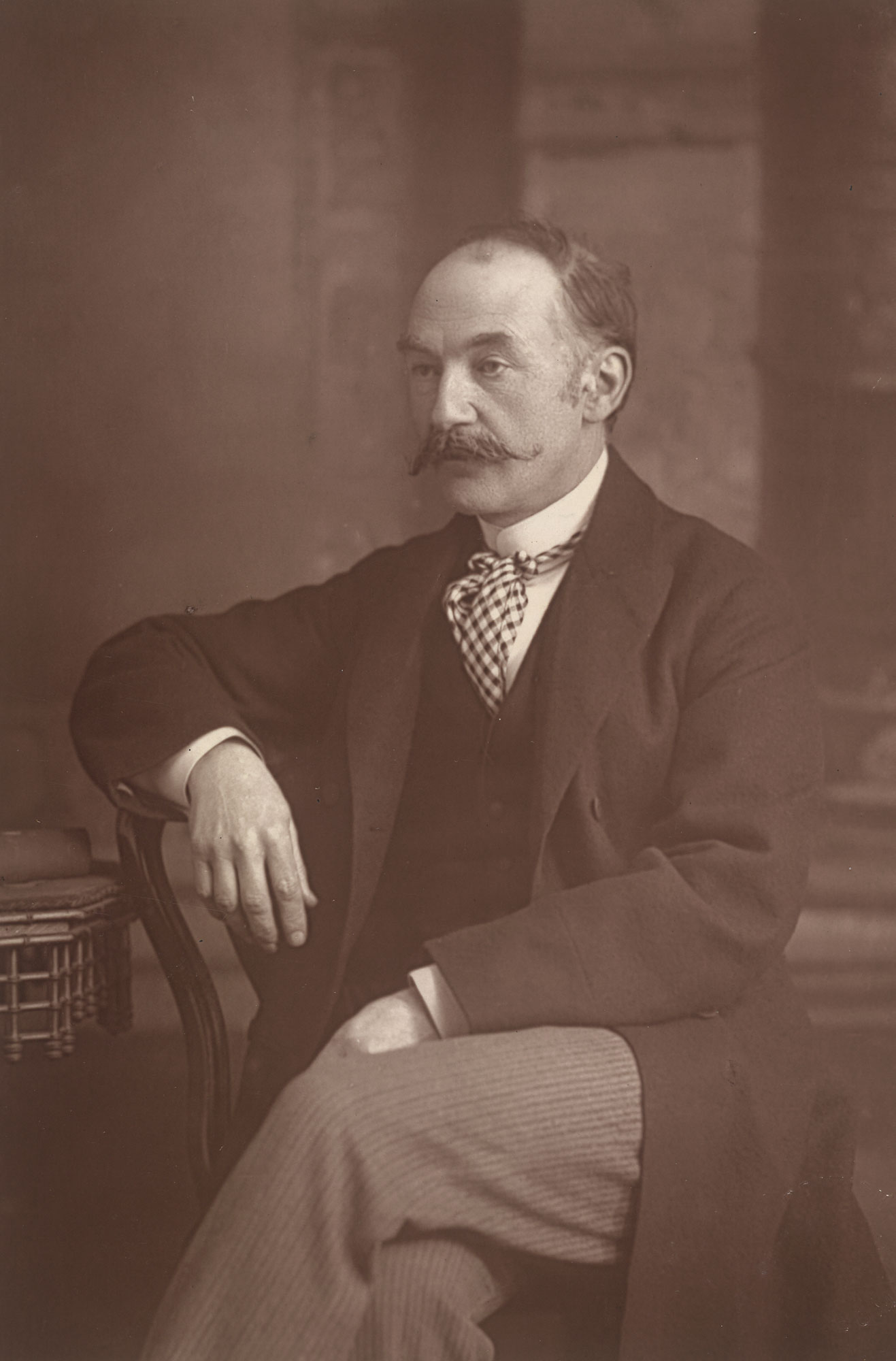 Thomas Hardy, author of Tess of the d'Urbervilles, Jude the Obscure and Far From The Madding Crowd. Portrait photograph by W. & D. Downey.