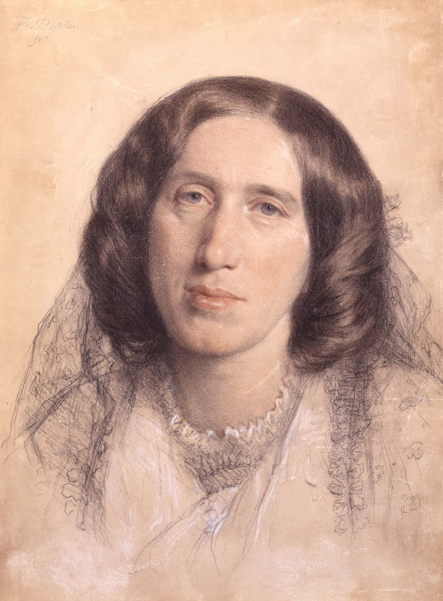George Eliot (Mary Ann Evans), author of Middlemarch, Adam Bede and The Mill on the Floss. Portrait by Sir Frederic William Burton © National Portrait Gallery, London.