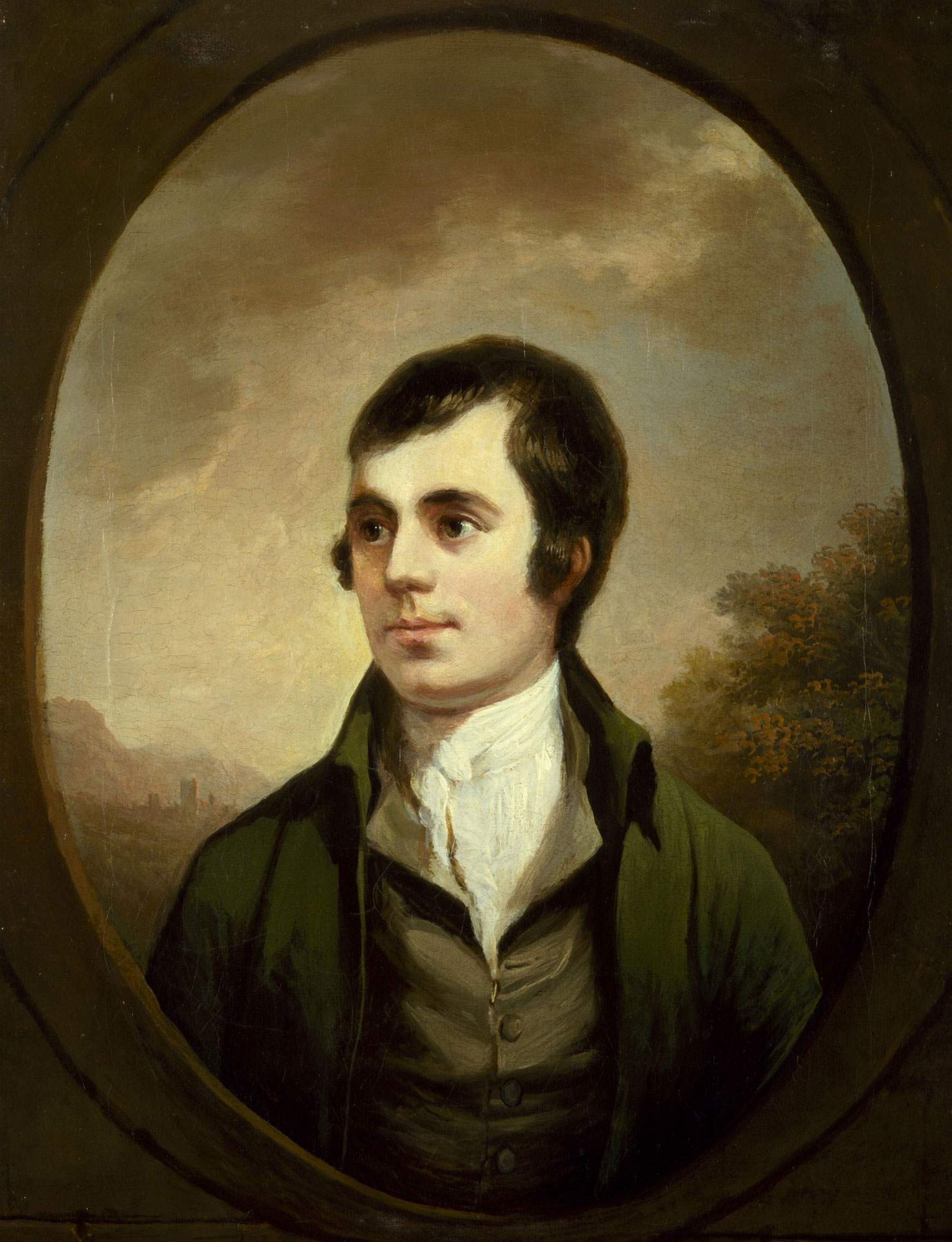 Robert Burns, author of Poems, Chiefly in the Scottish Dialect. Portrait by Alexander Nasmyth © National Portrait Gallery, London.